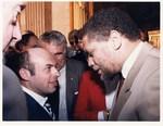 Mickey Leland with Anatoly Schransky ; Unknown others; 1986