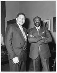 Mickey Leland with Willie Brown