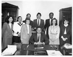 Mickey Leland with Washington staff