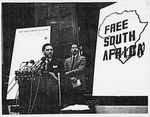 Mickey Leland, Randall Robinson at Free South Africa Conference