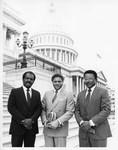 Mickey Leland with Big Brothers ; Randy Kier  7/31/1988