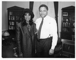 Mickey Leland with Donna Summer at Press Conference
