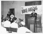 Mickey Leland at Bike Aid, 1986 ; Mark Epstien by The Mickey Leland Papers & Collection Addendum. (Texas Southern University, 2018)