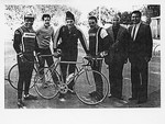 Mickey Leland with others on Isreal Bike Trip by The Mickey Leland Papers & Collection Addendum. (Texas Southern University, 2018)