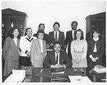 Mickey Leland with Washington Staff by The Mickey Leland Papers & Collection Addendum. (Texas Southern University, 2018)