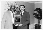Mickey Leland with Valrie Harper, Byron Dorgan; Joan Holmes, others by The Mickey Leland Papers & Collection Addendum. (Texas Southern University, 2018)