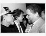 Mickey Leland with Willie Nelson, others