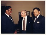 Mickey Leland with Lee Brown, Jim Wright