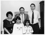 Mickey Leland with Gonzalez family and Apple Computer Compant winners