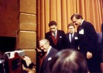 Mickey Leland with Jim Wright in USSR, others