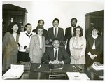 Mickey Leland with Staff