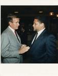 Mickey Leland with George Bush