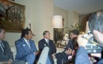 Mickey Leland at Foreign National Meeting in Washington Hotel ;