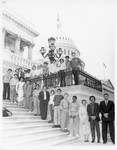 Mickey Leland young students on steps of US Capitol by The Mickey Leland Papers & Collection Addendum. (Texas Southern University, 2018)