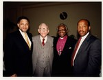 Mickey Leland with Bishop Tutu, Claude Peppers and John Lewis. by The Mickey Leland Papers & Collection Addendum. (Texas Southern University, 2018)