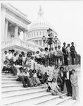 Mickey Leland with Robert C. Eckhardt and Children on steps of U.S. Capitol by The Mickey Leland Papers & Collection Addendum. (Texas Southern University, 2018)