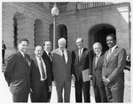 Mickey Leland with Milton Carroll ; Thomas Tip O'Neil and others