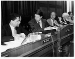 Mickey Leland with Al Gore at hearings ; 1985
