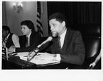 Mickey Leland on postal sub committee hearings, Louis Delgado