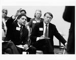 Mickey Leland; Unknown others; Metro Houston public meeting hearing ; Houston Rodeo
