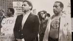 Leading an anti-apartheid march. (Exhibit 21)   Houston, Texas.  October 12, 1985.