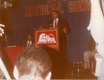 Mickey Leland speaking at 1984 LULAC convention in El Paso Texas ; 6/21/1984 by The Mickey Leland Papers & Collection Addendum. (Texas Southern University, 2018)