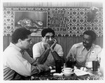 Mickey Leland, Anthony Hall and Ben Reyes, others at lunch counter by The Mickey Leland Papers & Collection Addendum. (Texas Southern University, 2018)